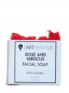 All-natural Handmade Face and Body Soap: Rose and Hibiscus