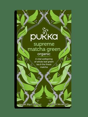 Supreme Matcha Green, Organic Herbal Green Tea with Sencha, 20 Teabags