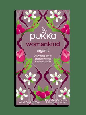 Womankind, Organic Herbal Tea with Shatavari, Cranberry & Rose Flower, 20 Teabags