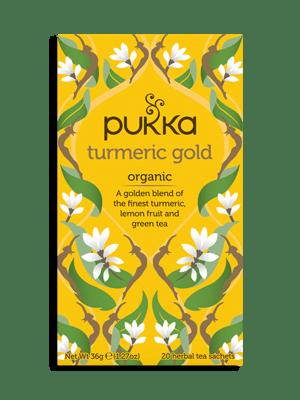 Turmeric Gold, Organic Herbal Tea with Lemon & Whole Leaf Green Tea, 20 Teabags